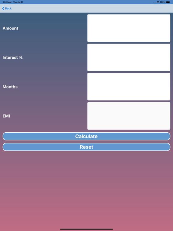 EMI Calculator screenshot #2