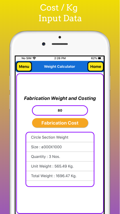 Fabrication Weight Calc Pro screenshot 5