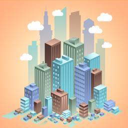 Ícone do app CITY REAL ESTATE TYCOON
