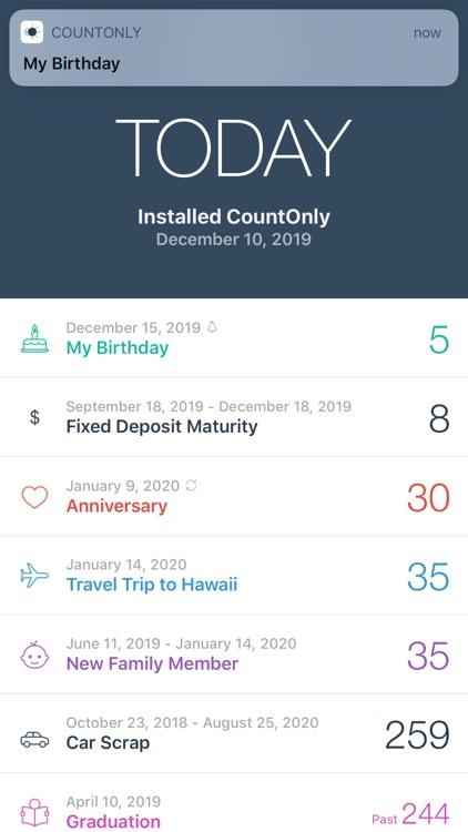 CountOnly - Countdown Days App screenshot-3