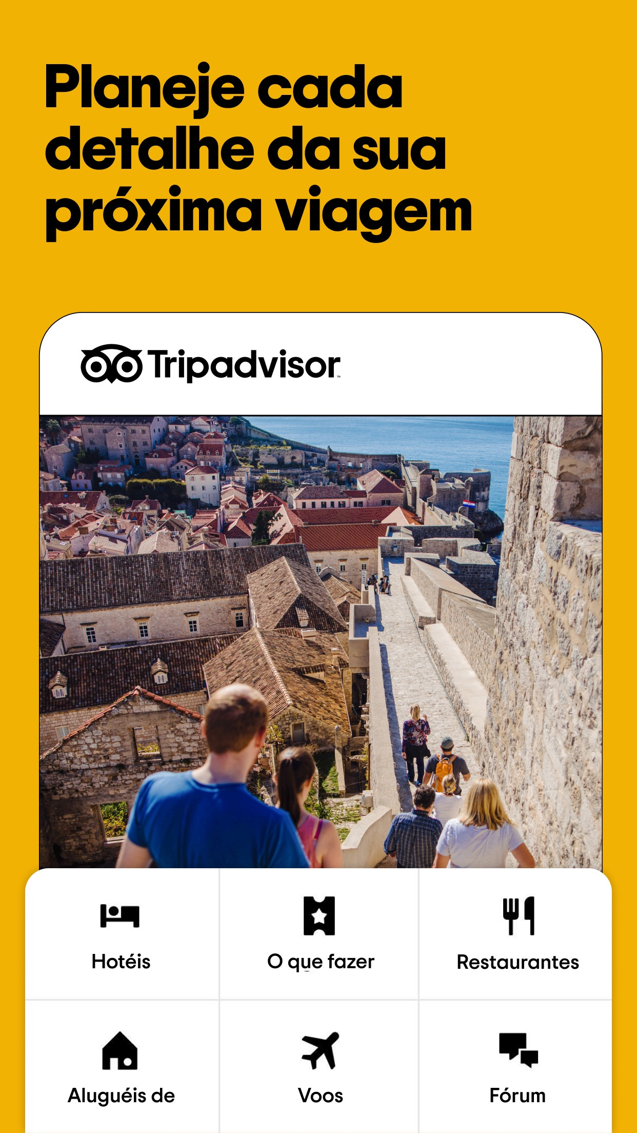 Screenshot do app Tripadvisor Hotéis, Voos