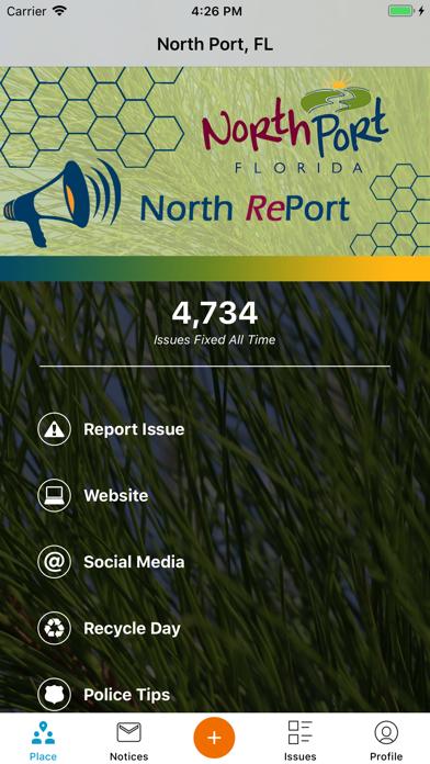 North RePort screenshot one