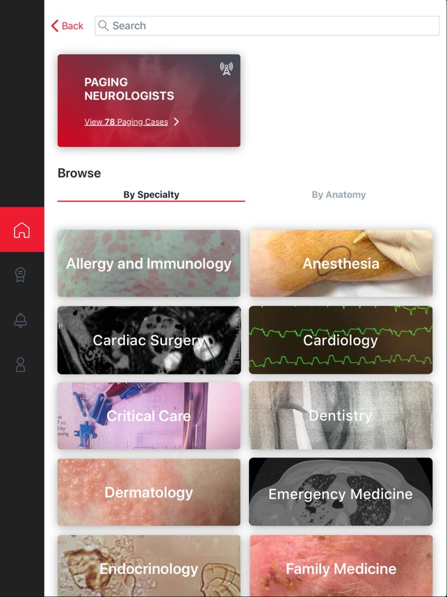 ‎Figure 1 - Medical Cases Screenshot