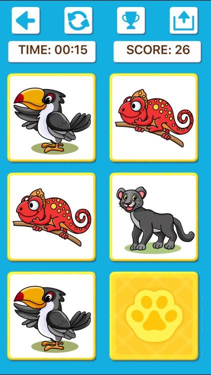 Animal Memory Matching Games