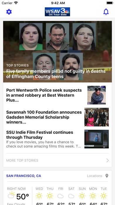 WSAV News - Savannah, GA screenshot one