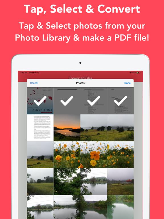 JPEG / PNG to PDF Converter Screenshots