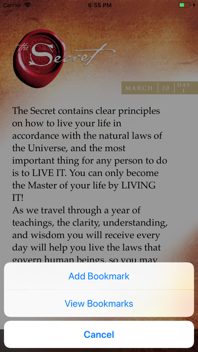 Screenshot for The Secret Daily Teachings in South Africa App Store