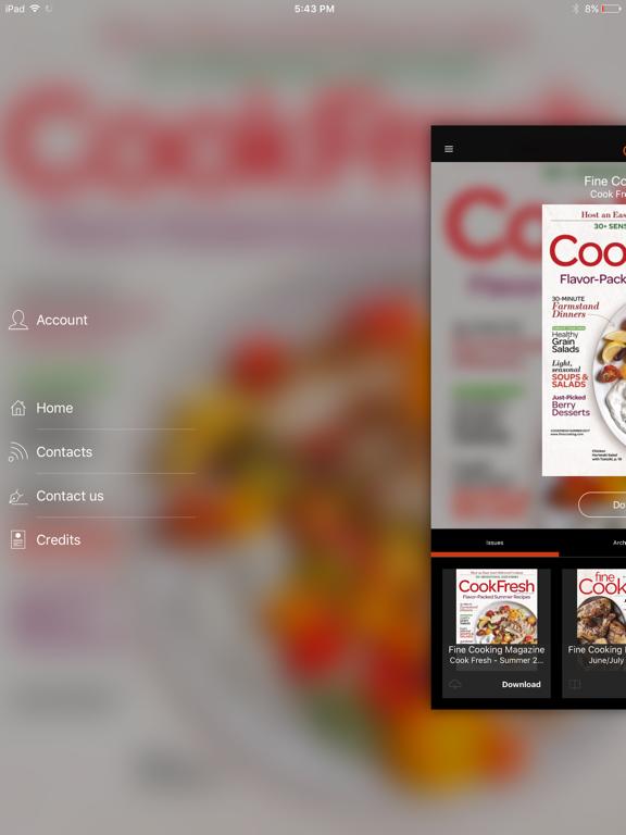 Fine Cooking Magazine screenshot