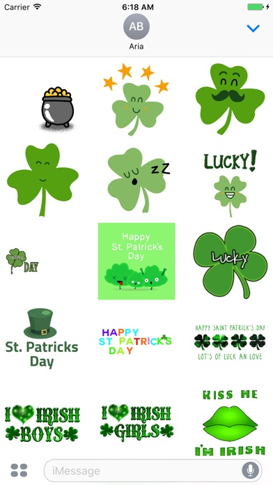 Screenshot for Animated Saint Patrick's Day in United States App Store