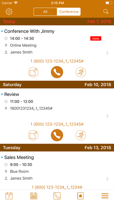 Conference Call Auto Dialer Screenshots