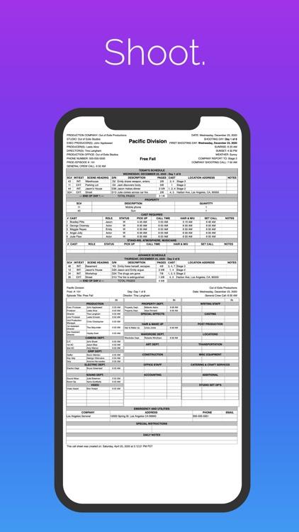 Pocket Call Sheet screenshot-4