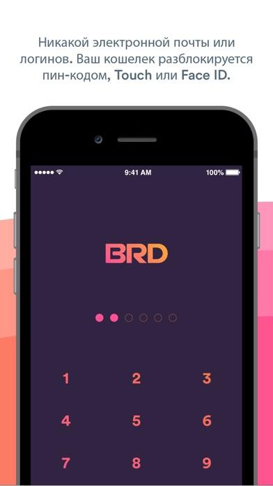 BRD биткойн-кошелек BTC EtherСкриншоты 2