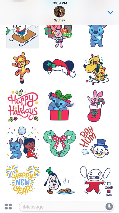 Disney Stickers: Holiday Cheer