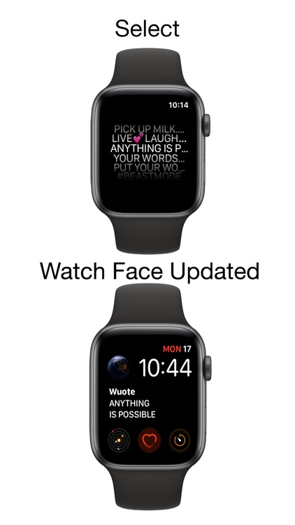 Wuote - updatable watch faces