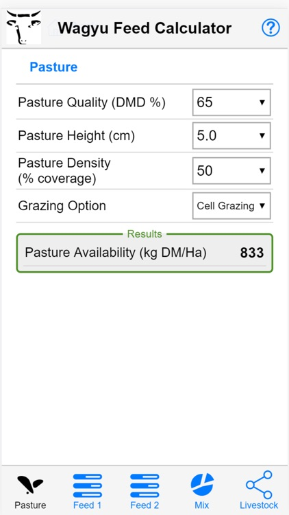 Wagyu Feed Calculator by NSW Department of Primary Industries