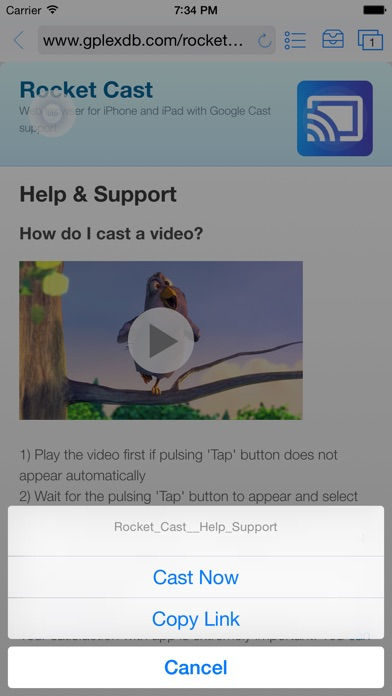 Rocket Video Cast | Chromecast IPA Cracked for iOS Free Download