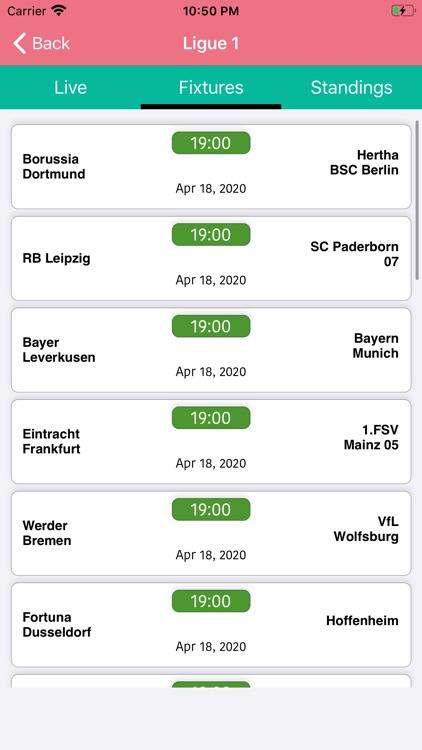 One Stop Football - Live Score screenshot-3
