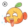 Animated Funny Orange Fish