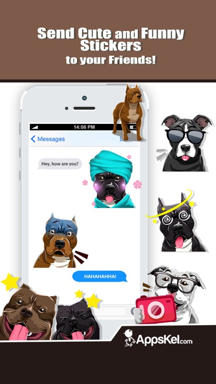 Pit Bull Dogs Emoji Stickers screenshot-3