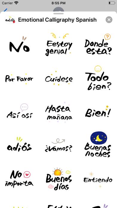 Emotional Calligraphy Spanish screenshot 3