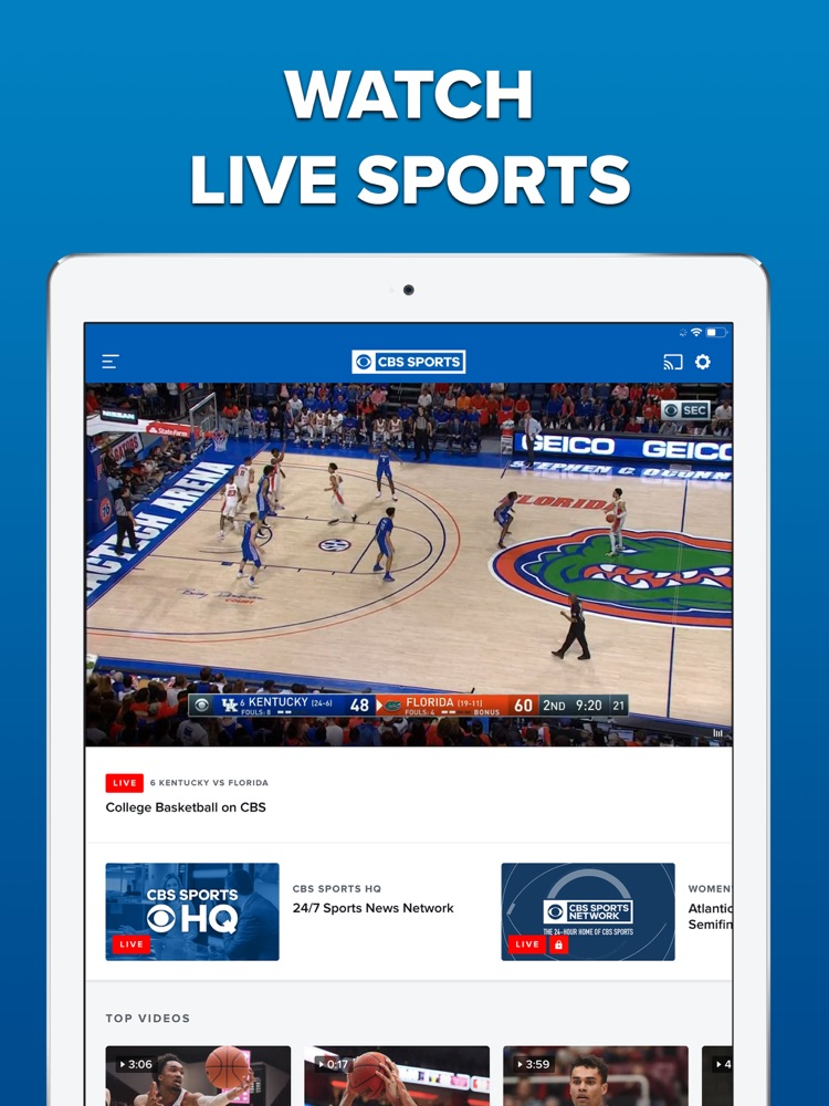 CBS Sports App Scores & News App for iPhone - Free ...