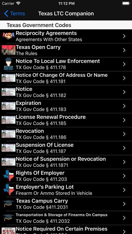 Texas LTC Companion screenshot-3