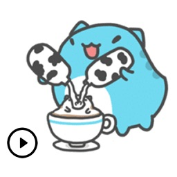 Cute Animated Bug Cat Stickers