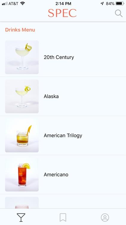 Spec: Craft Cocktail Library screenshot-0