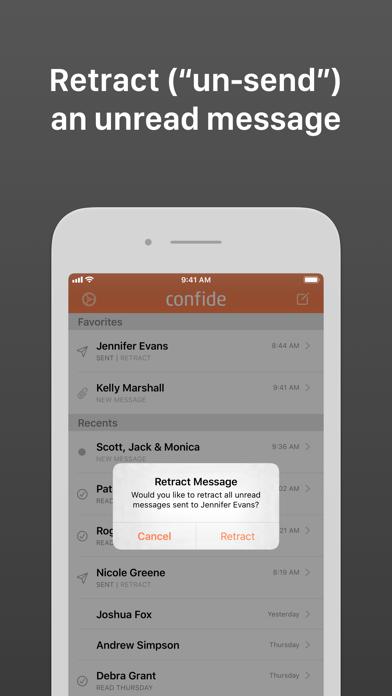 Confide Screenshot