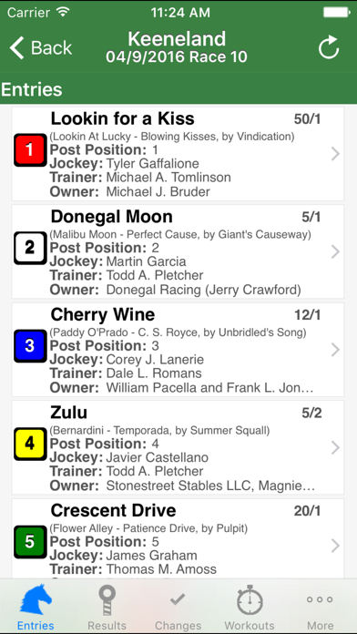 Equibase Today's Racing screenshot four
