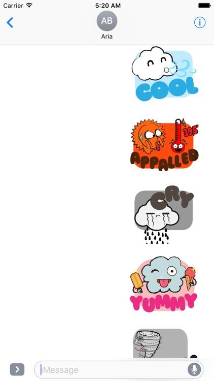 Animated Cute Weather Emoji