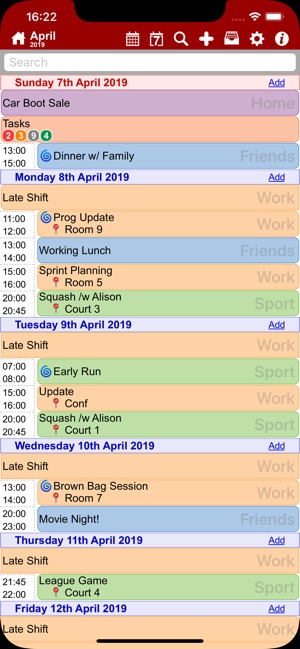 myCal PRO: Calendar & Events Screenshot