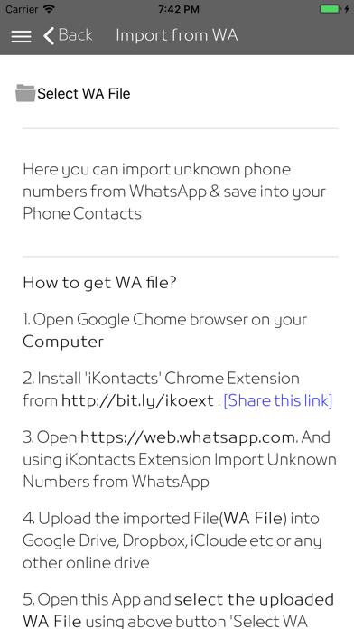 iKontacts - Manage Contacts screenshot 2
