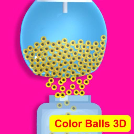 sand balls fill color 3D