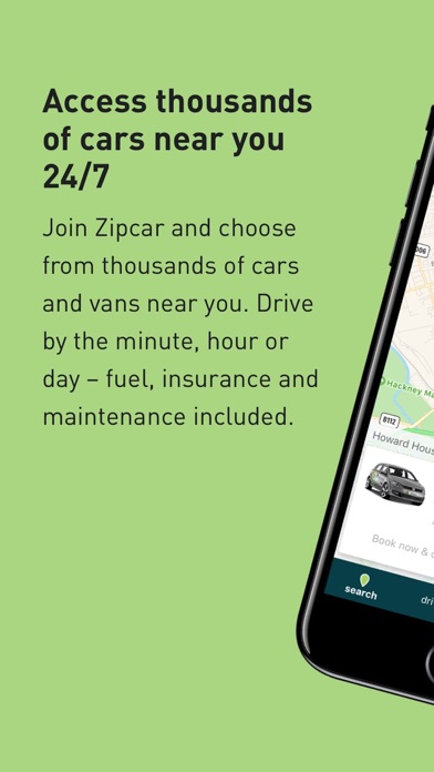 Zipcar screenshot one