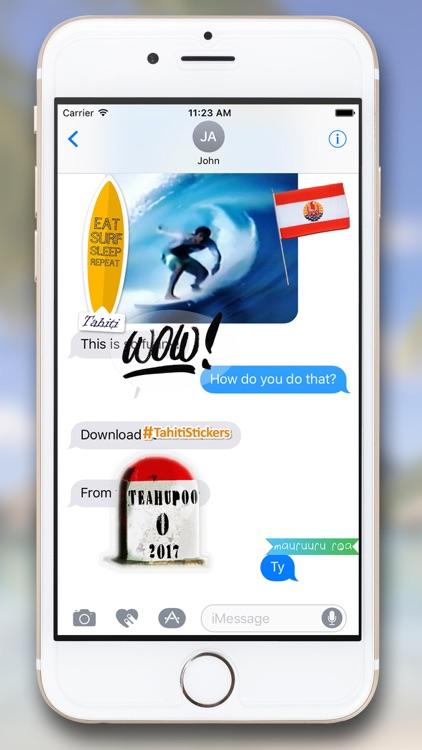 Tahiti Stickers for iMessage screenshot-7