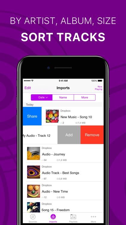 Offline Music Player & Cloud screenshot-3