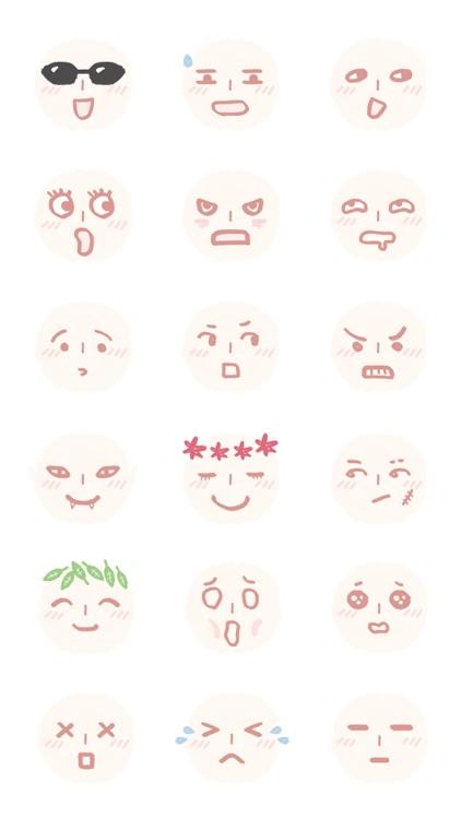 Face Emojis 2 Sticker Pack screenshot-3
