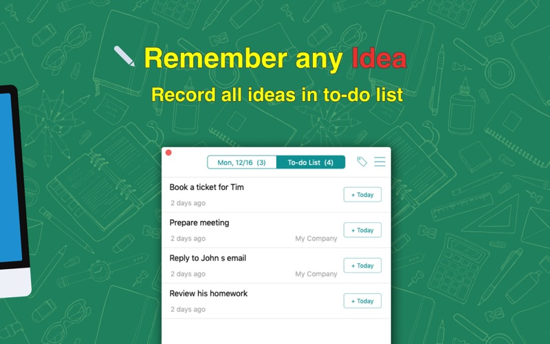 Clean Todo - Simplest To-do List & Tasks Manager for Mac