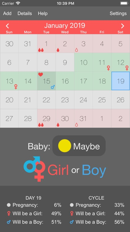 Menstrual Periods Tracker