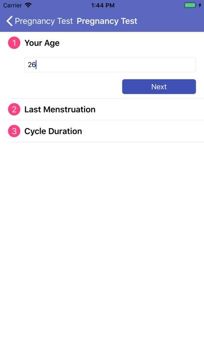 Pregnancy Test - Symptoms