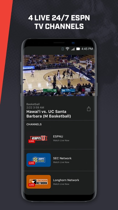 ESPN Player Screenshot