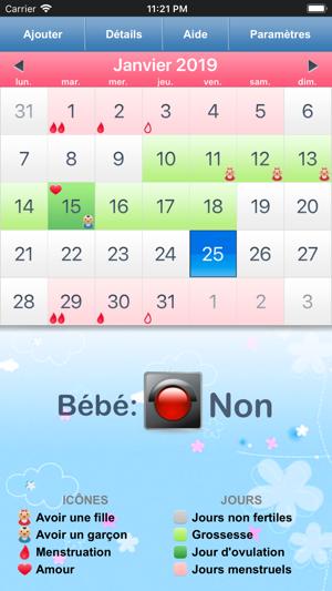 Calendrier Ovulation Et Regle.Calendrier Regles Ovulation Dans L App Store