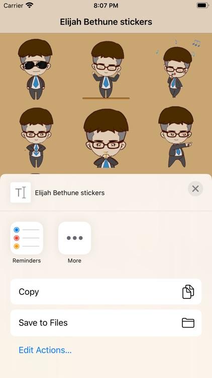 Elijah Bethune stickers screenshot-3