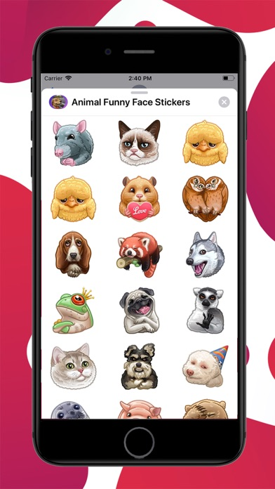 Screenshot #1 pour Animal Funny Face Stickers