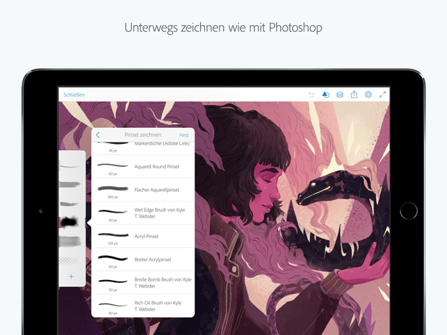 ‎Adobe Photoshop Sketch Screenshot