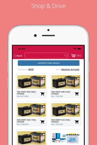 Shop&Drive Mobile App - náhled