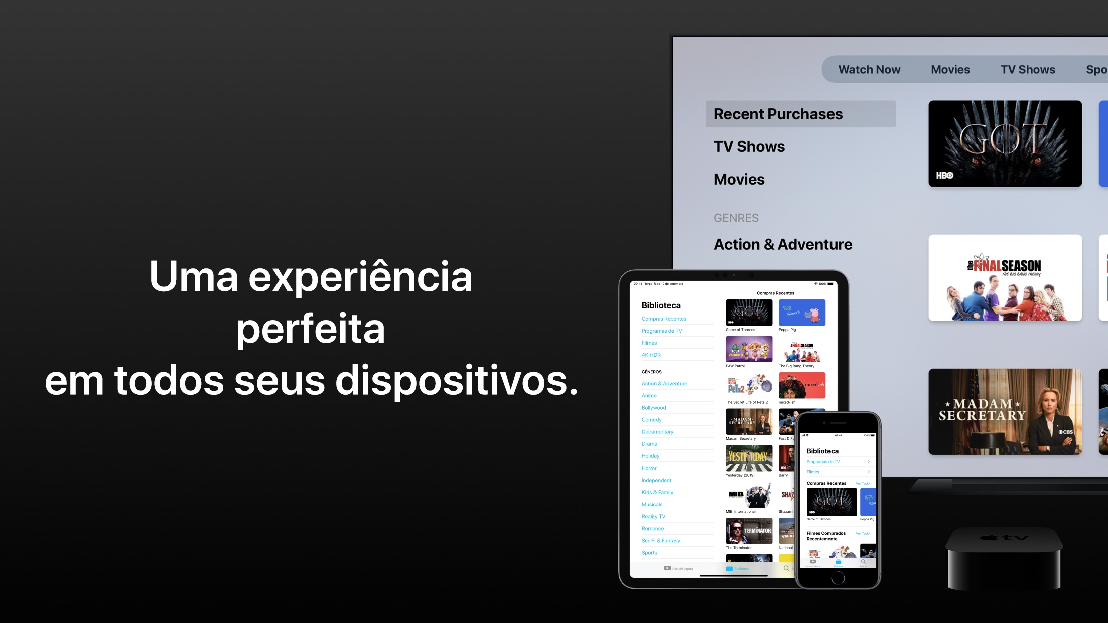 Screenshot do app Apple TV