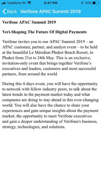 Verifone APAC Summit 2019 screenshot #5