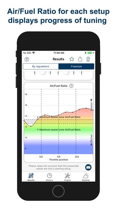 Screenshot of Jetting Rotax Max EVO Kart App